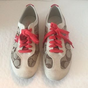 """Coach(#A1474) Baylee """"C"""" Signature Sneakers"""